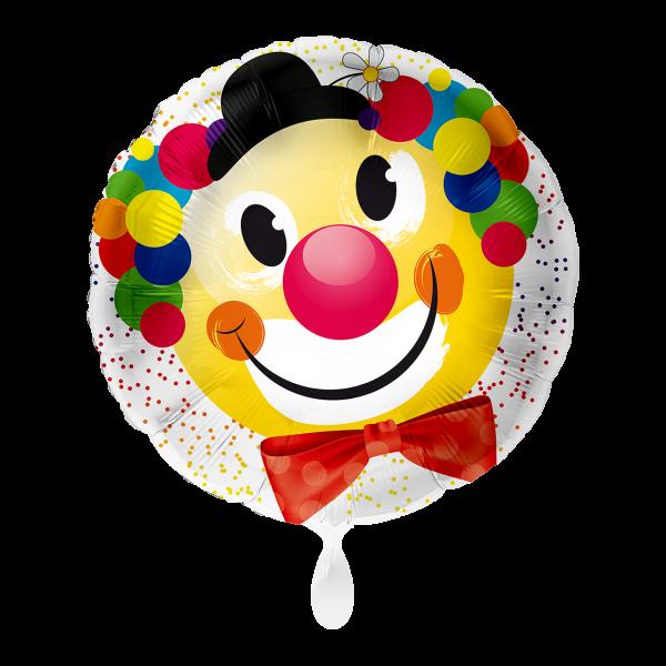 1 Ballon - Fröhlicher Clown