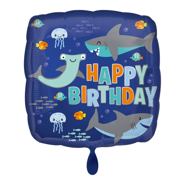 1 Ballon - Happy Birthday Sharks