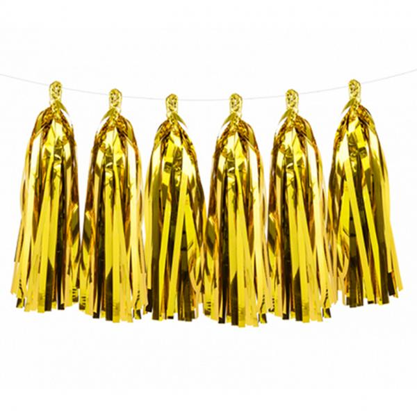 1 Tasselgirlande - 1,5m - Gold