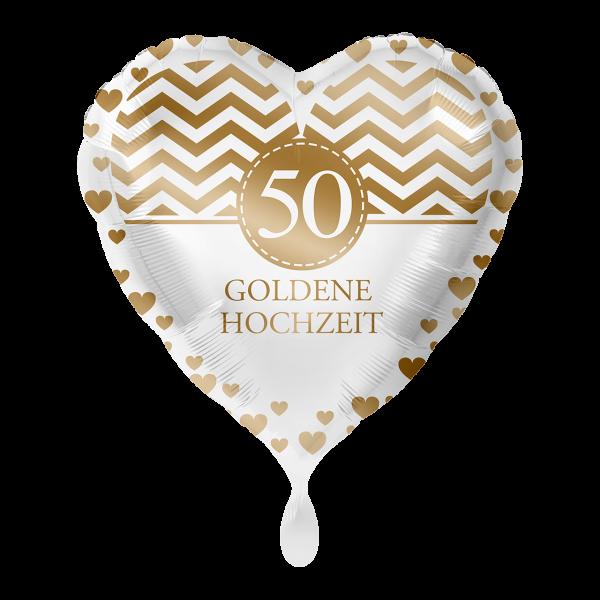 1 Ballon - Goldene Hochzeit