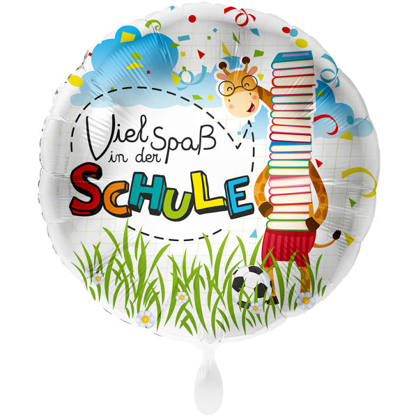 1 Ballon XXL - Viel Spaß in der Schule