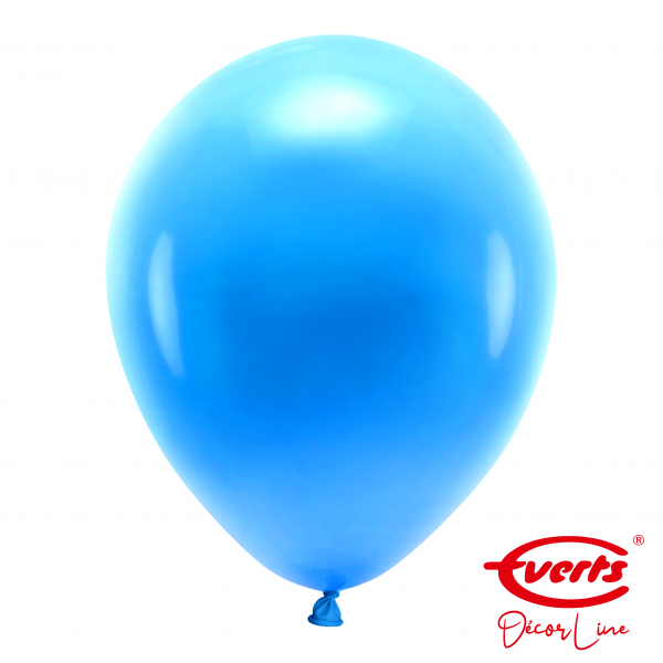 50 Luftballons - DECOR - Ø 35cm - Pearl & Metallic - Bright Royal Blue