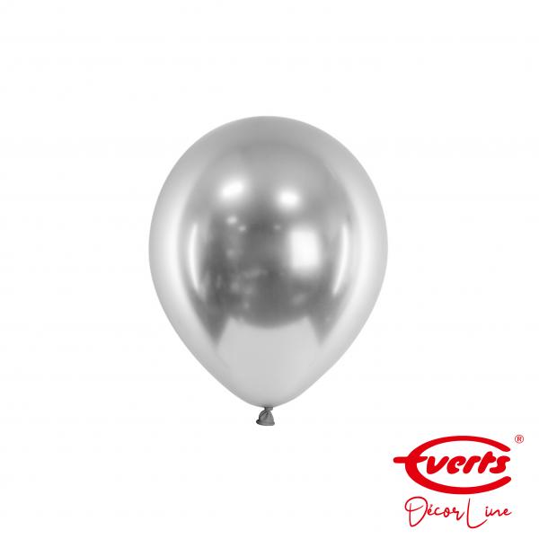 100 Miniballons - DECOR - Ø 13cm - Satin Luxe - Platinum