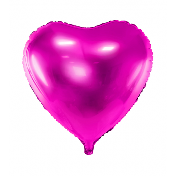 1 Ballon - Herz - Pink