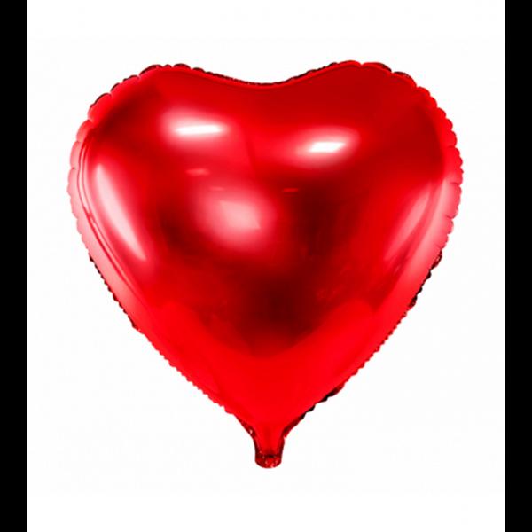 1 Ballon - Herz - Rot