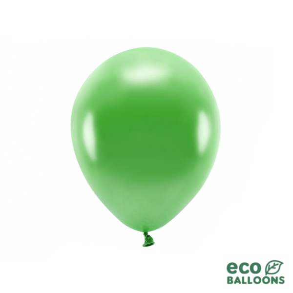 100 ECO-Luftballons - Ø 26cm - Metallic - Green Grass
