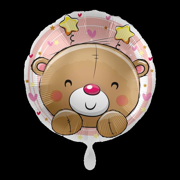 1 Ballon - Bear Pink