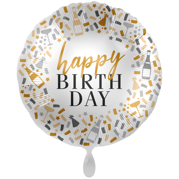 1 Ballon XXL - Hello Happy Birthday