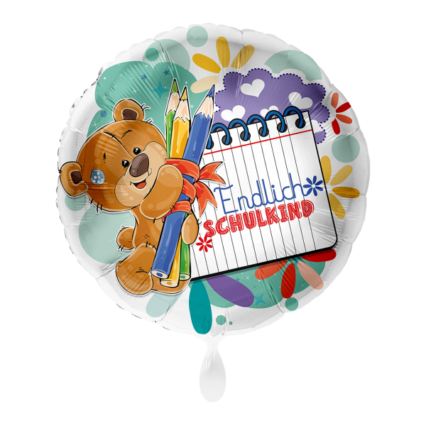 1 Ballon - Bär Endlich Schulkind