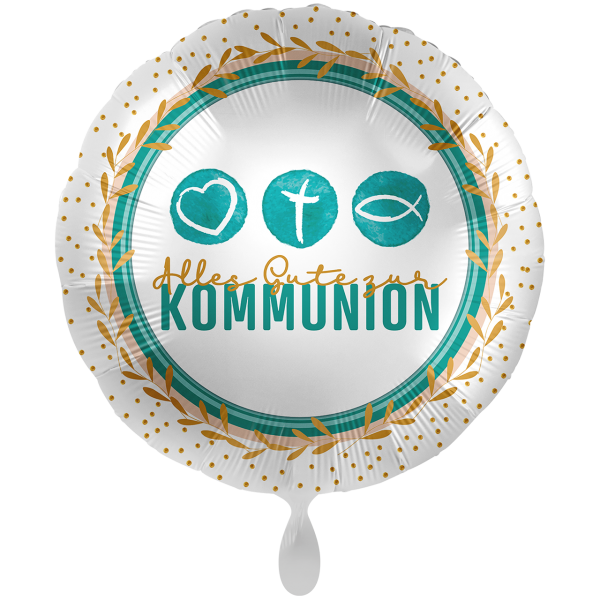 1 Ballon XXL - Kommunion Symbols