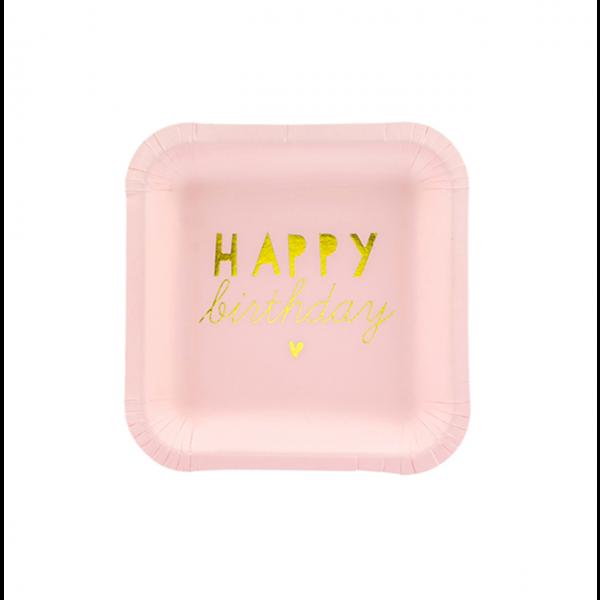 6 Pappteller Trend - Ø 14cm - Shiny Birthday