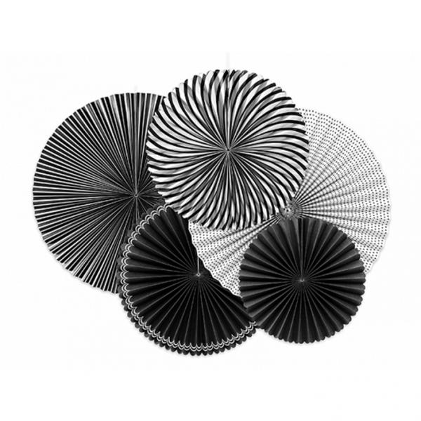 Dekorosetten Chic - 5er Set - Schwarz & Weiß