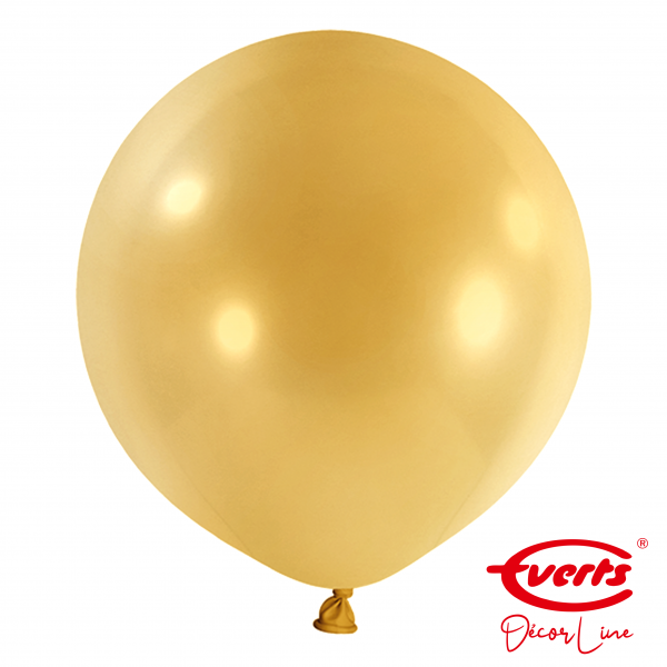 4 Riesenballons - DECOR - Ø 60cm - Pearl & Metallic - Gold