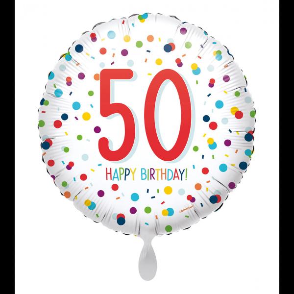 1 Ballon - EU Confetti Birthday 50