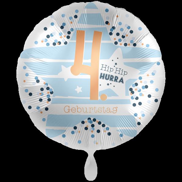 1 Ballon XXL - 4. Geburtstag Stars