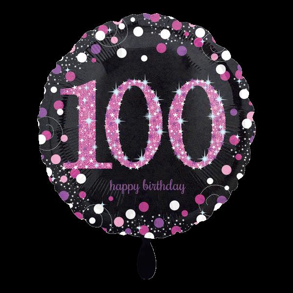 1 Ballon - Pink Celebration 100