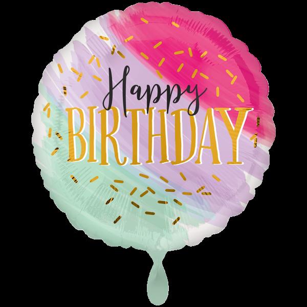 1 Ballon XXL - Water Color Birthday