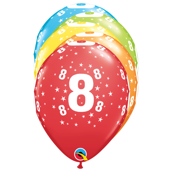 6 Motivballons - Ø 27cm - DECOR - Age 8