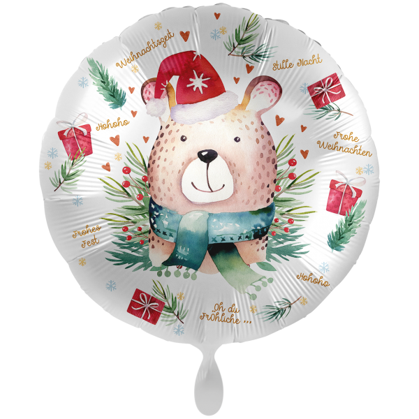 1 Ballon XXL - Cute Christmas Bear
