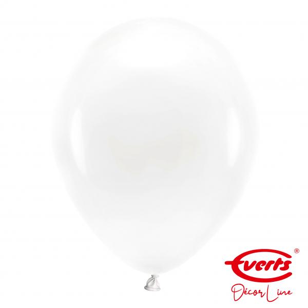 50 Luftballons - DECOR - Ø 35cm - Pearl & Metallic - Frosty White