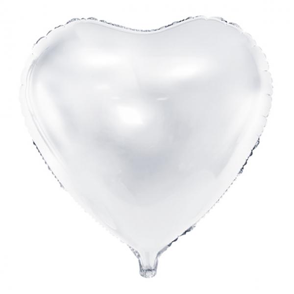 1 Ballon XXL - Herz - Weiß