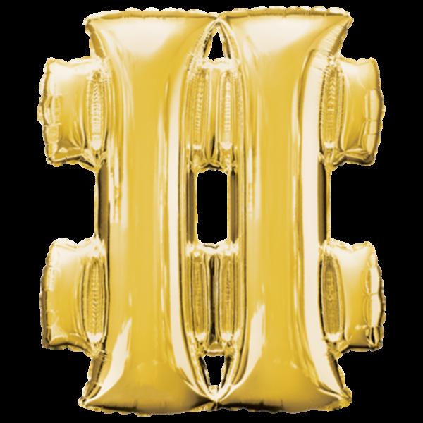 1 Ballon - Symbol # - Gold - Ø 83cm