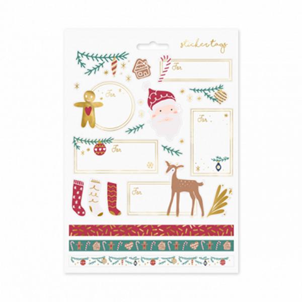 10 Partysticker Sets - Christmas Santa