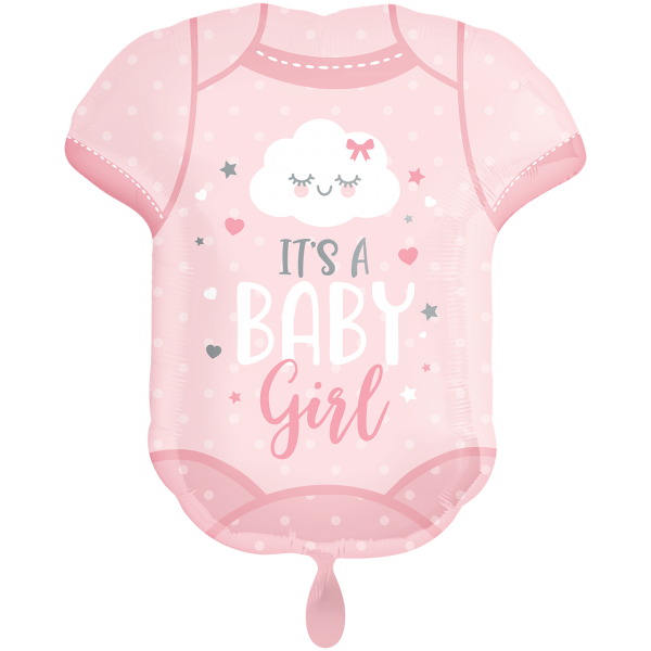 1 Ballon XXL - Baby Girl Onesie