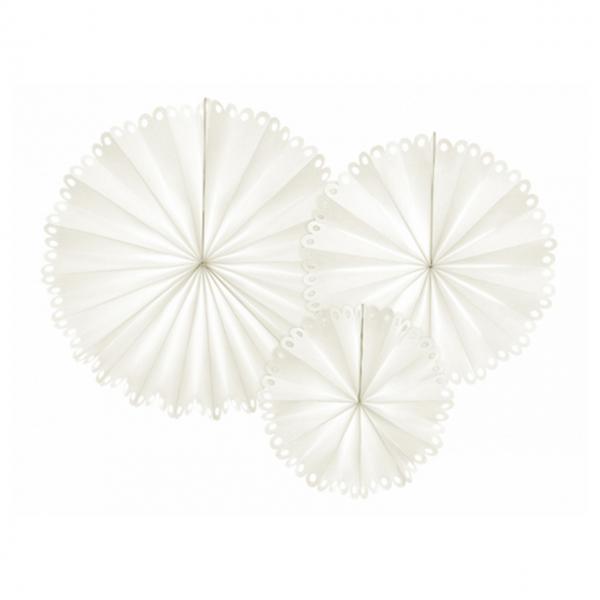 Dekorosetten Chic - 3er Set - Shine Weiß
