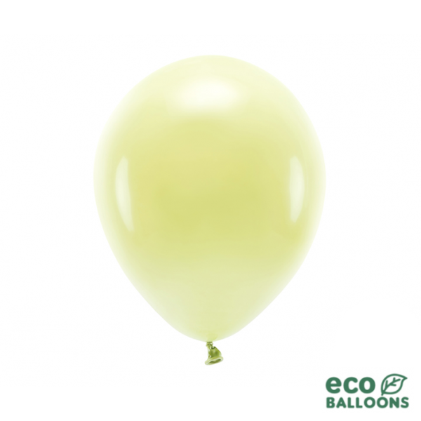 10 ECO-Luftballons - Ø 30cm - Light Yellow