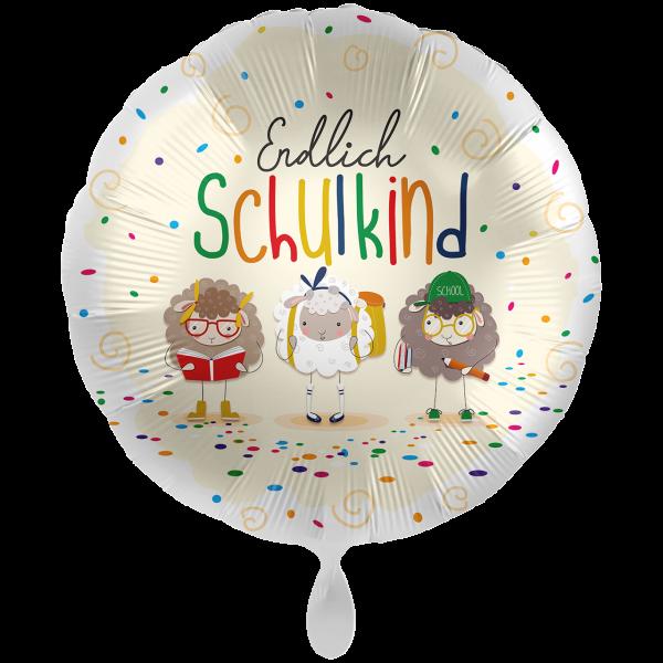 1 Ballon XXL - Endlich Schulkind Schafe