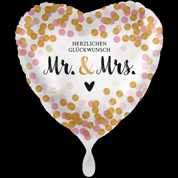 1 Ballon XXL - Mr. & Mrs. Dotty
