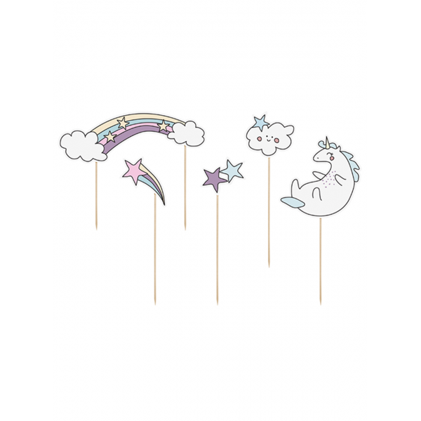 5 Cake Topper - Unicorn