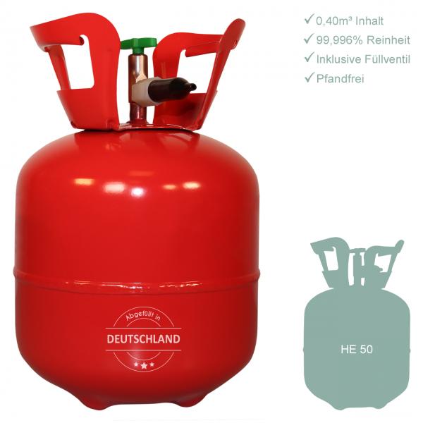 1 Heliumbehälter 50 - Helium für Luftballons - 0,40m³