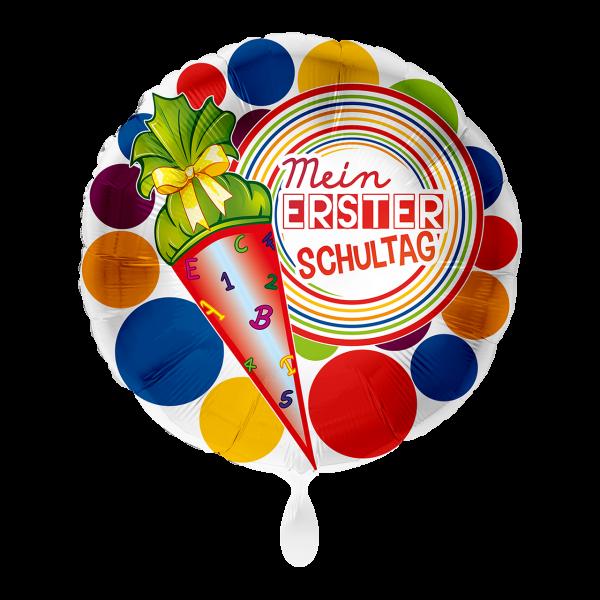 1 Ballon - Mein 1. Schultag Bunt