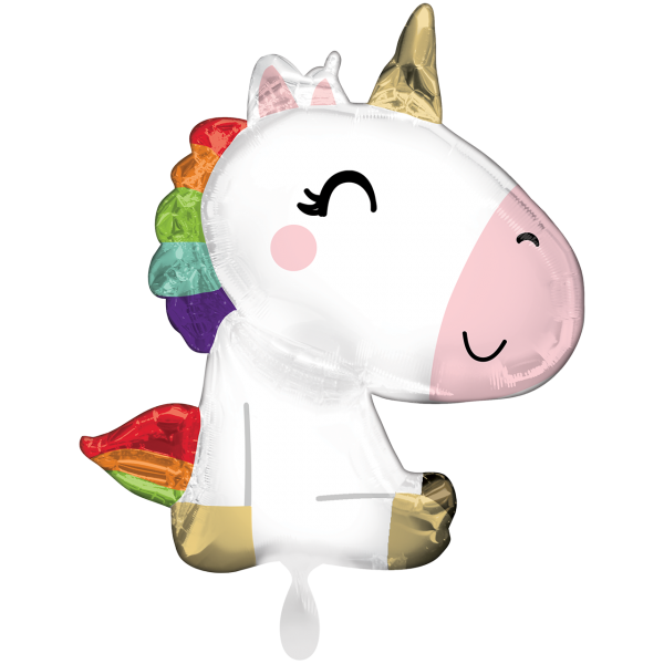 1 Ballon XXL - Satin Sitting Unicorn