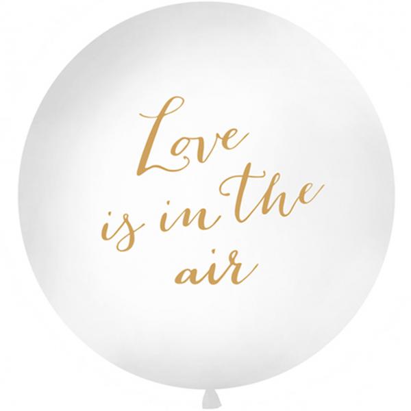 1 Riesenballon - Ø 1m - Love is in the air - Gold