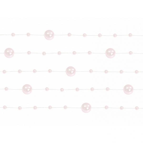 1 Perlengirlande - 1,3m - Rosa