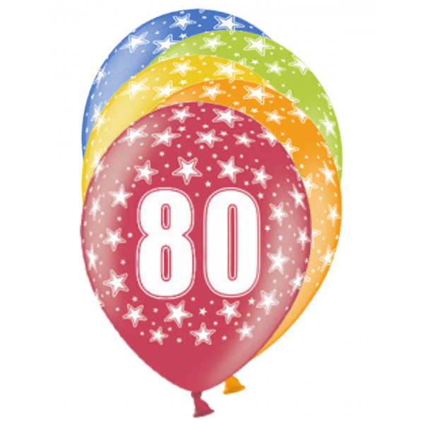 6 Motivballons - Ø 30cm - 80 Celebration
