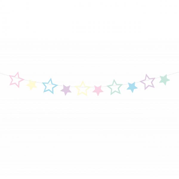 1 Bannergirlande - Unicorn Stars