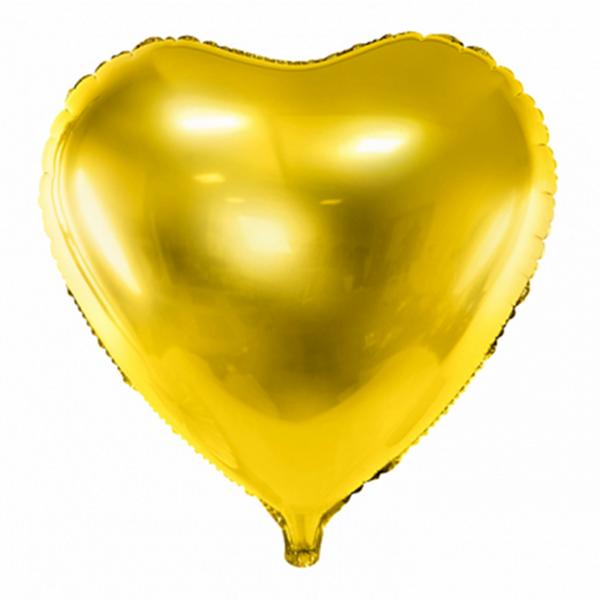 1 Ballon XXL - Herz - Gold