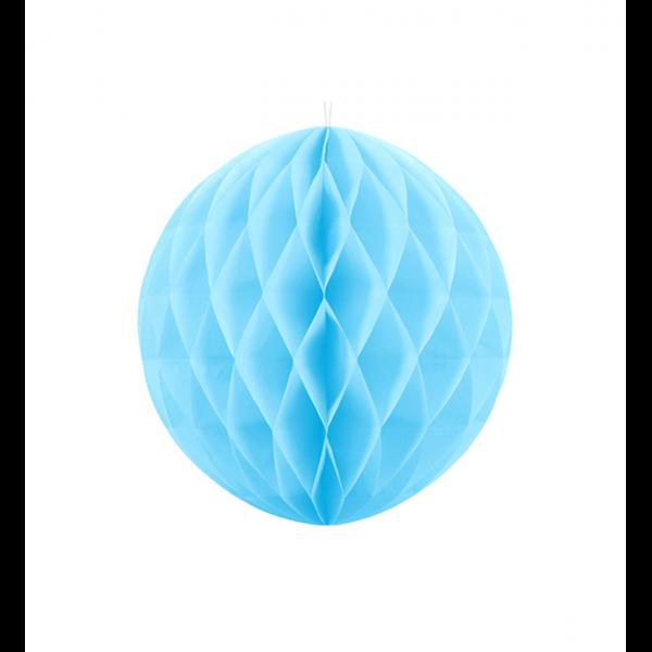 1 Wabenball XL - Ø 20cm - Hellblau