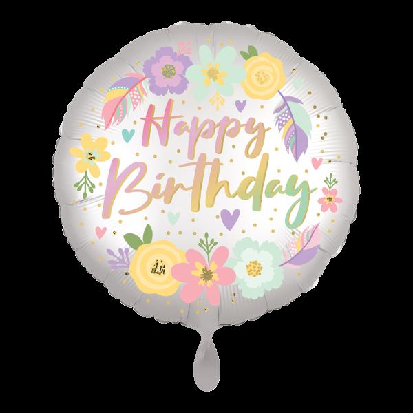 1 Ballon - Boho Birthday Satin Flowers