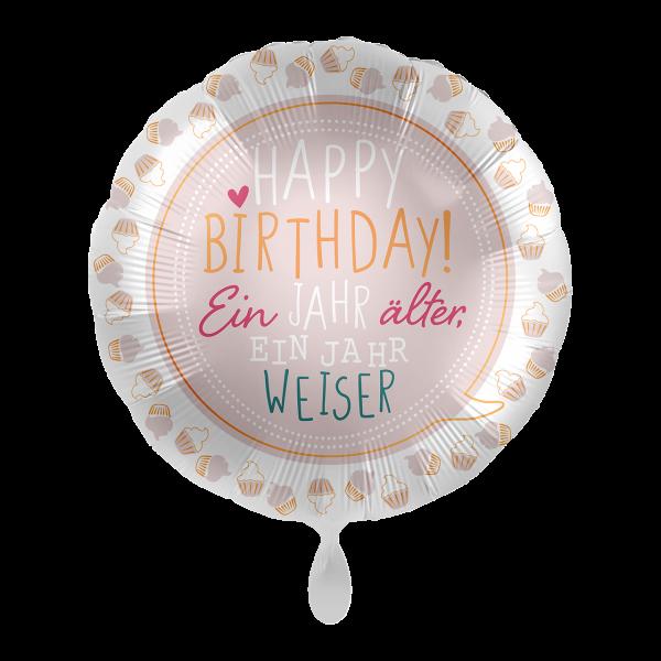 1 Ballon - Birthday Cupcakes