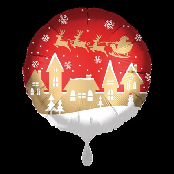 1 Ballon - Satin Santa Village