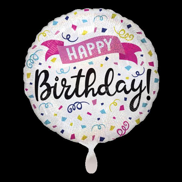 1 Ballon - Happy Birthday Sparkle Banner