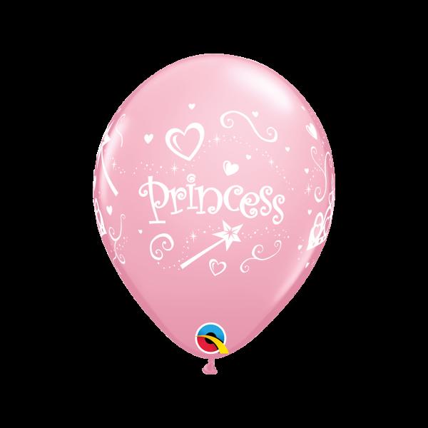 6 Motivballons - Ø 27cm - Princess