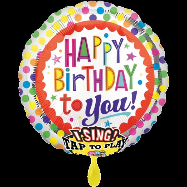 1 Musikballon - Happy Bday to You Dots