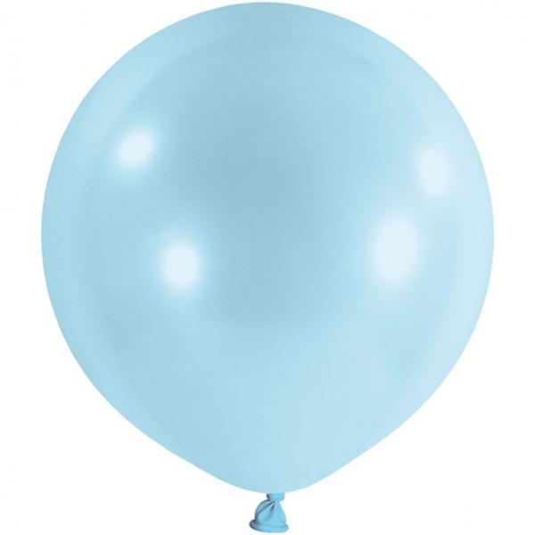 1 Riesenballon - Ø 1m - Pastell - Hellblau