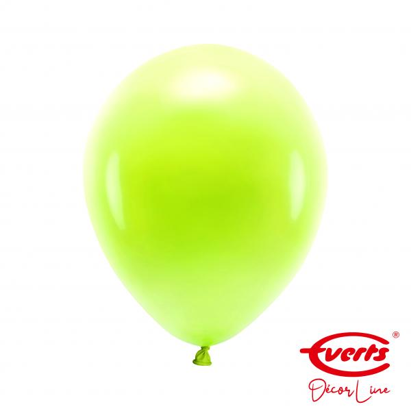 50 Luftballons - DECOR - Ø 28cm - Pearl & Metallic - Kiwi
